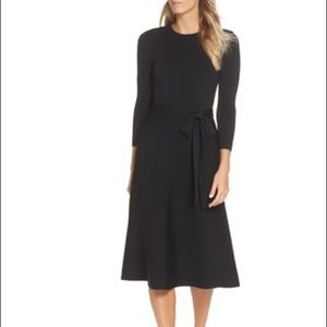 NWT Eliza J Fit and Flare Tie Waist Sweater Dress